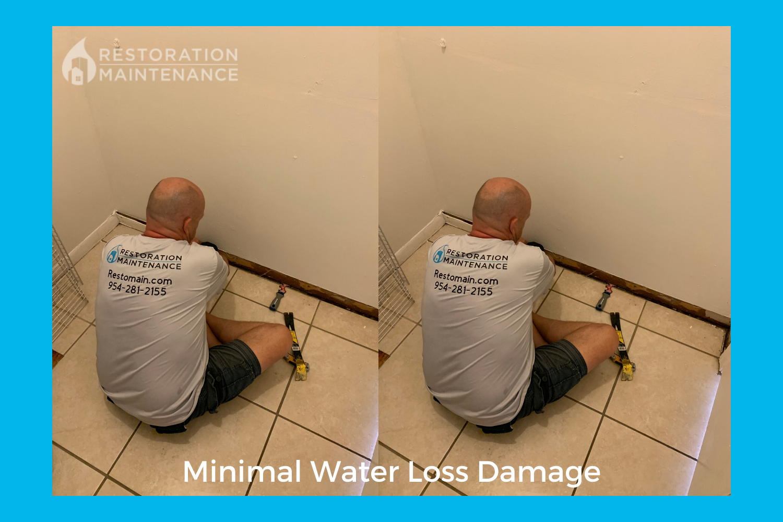 RestoMain Minimal Damage on Water Loss